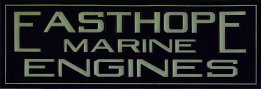 Easthope Marine Engines, enameled steel sign, thumbnail.